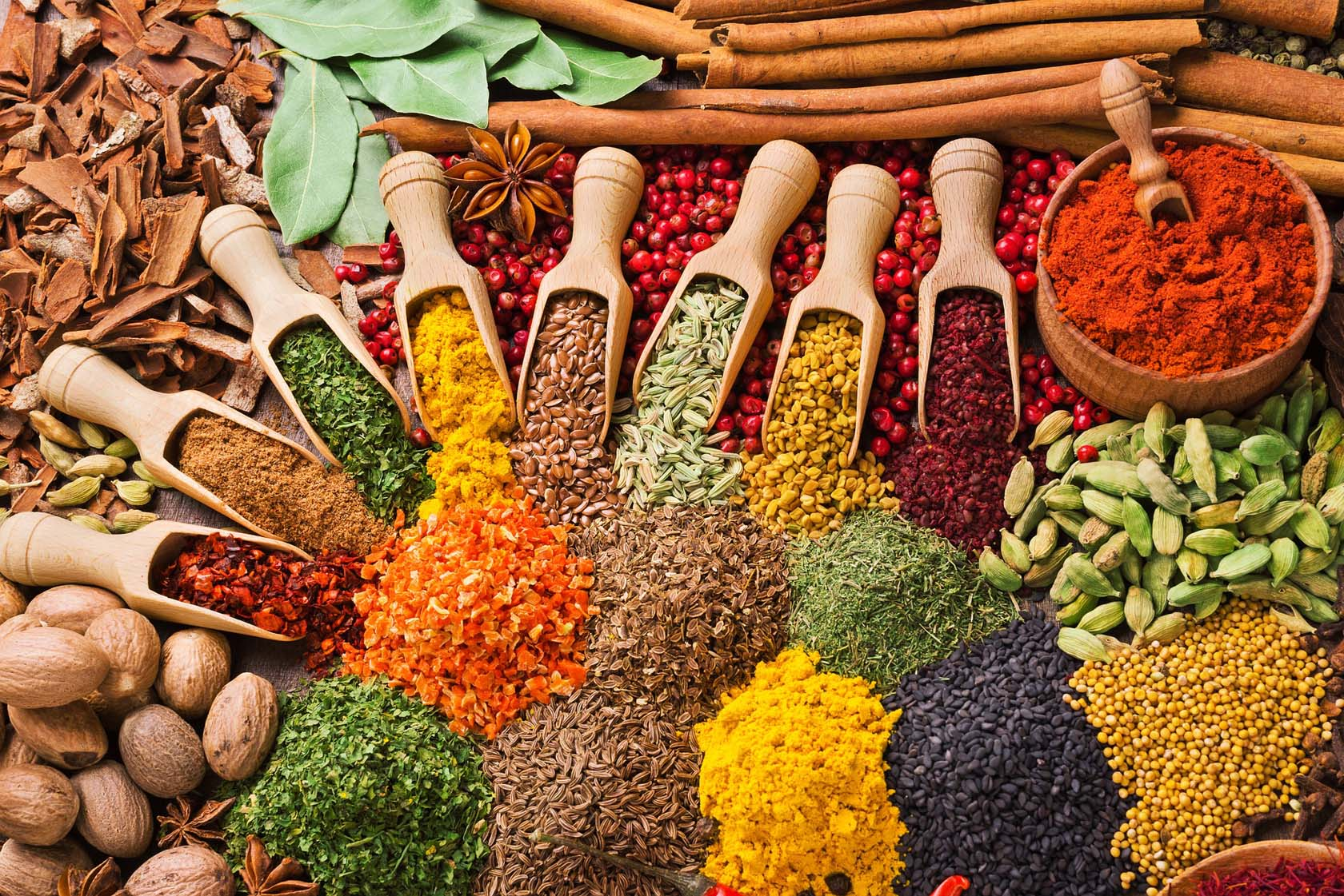 Spices And Herbs In Cooking