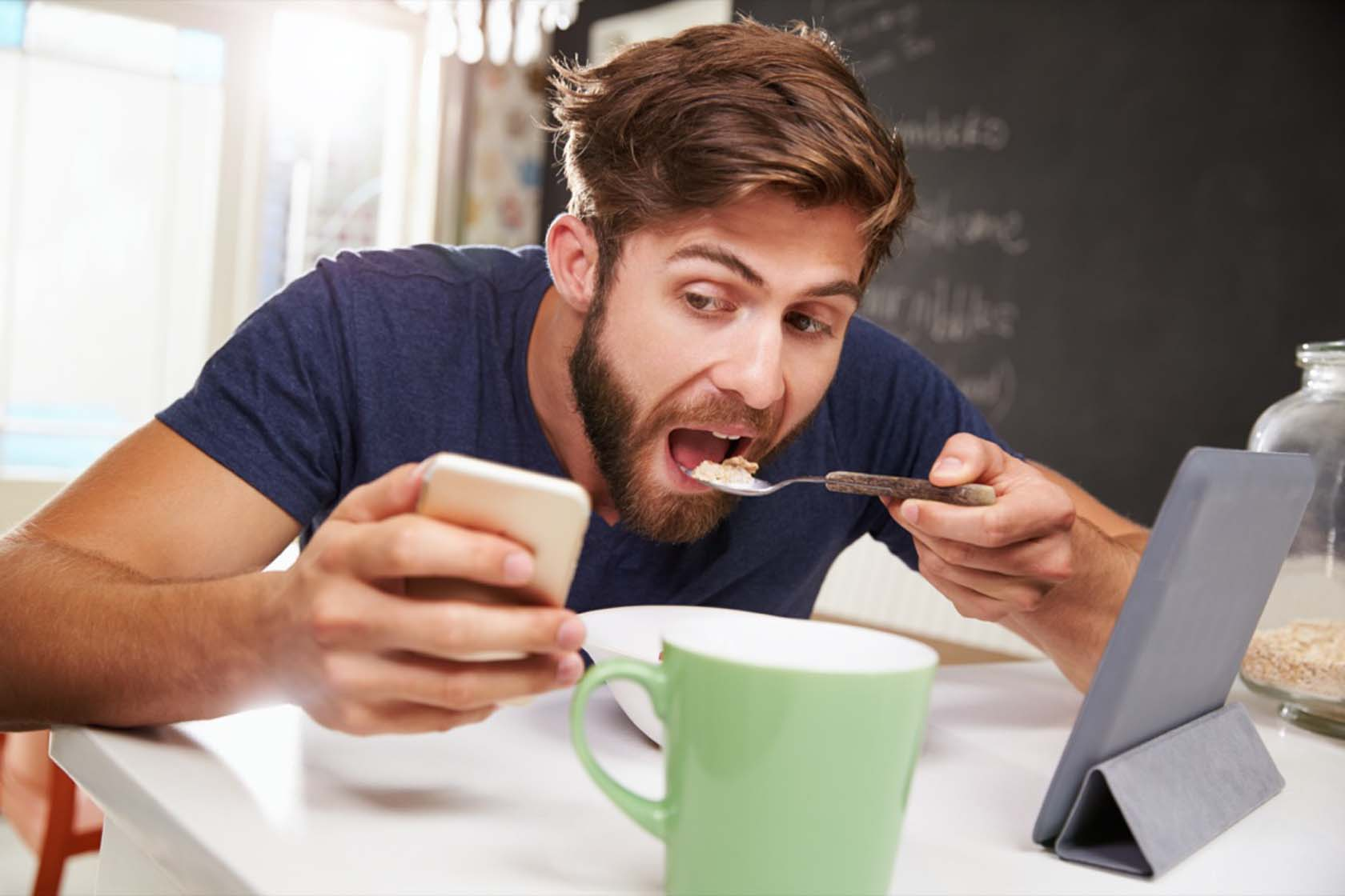 Minimize Distractions While Eating