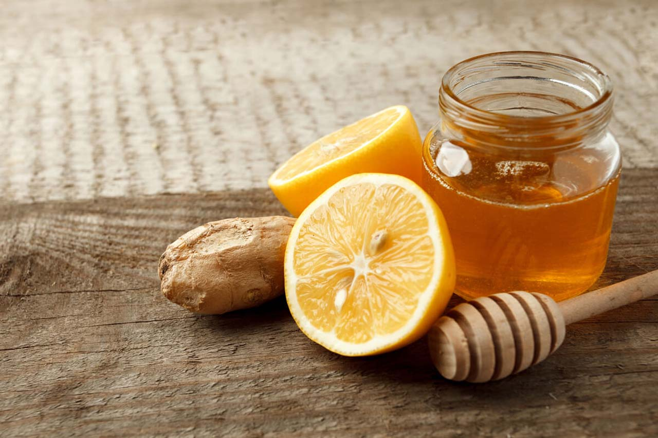Mixing Honey With Ginger Juice
